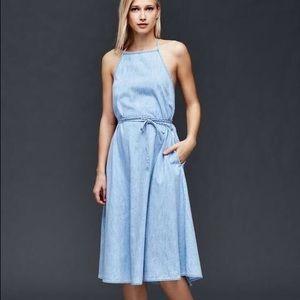 GAP Denim Midi Wrap Dress